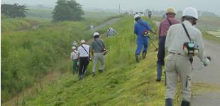 住民参加型河川管理作業のイメージ